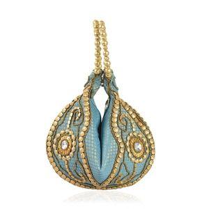 Handbags - Blue Beaded Small Evening Bag